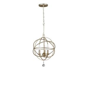 solaris three light mini chandelier by crystorama lighting