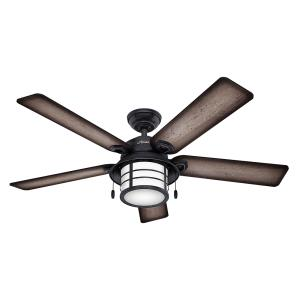 Hunter ceiling fans lighting the web key biscayne 54 outdoor ceiling fan with light kit aloadofball Image collections